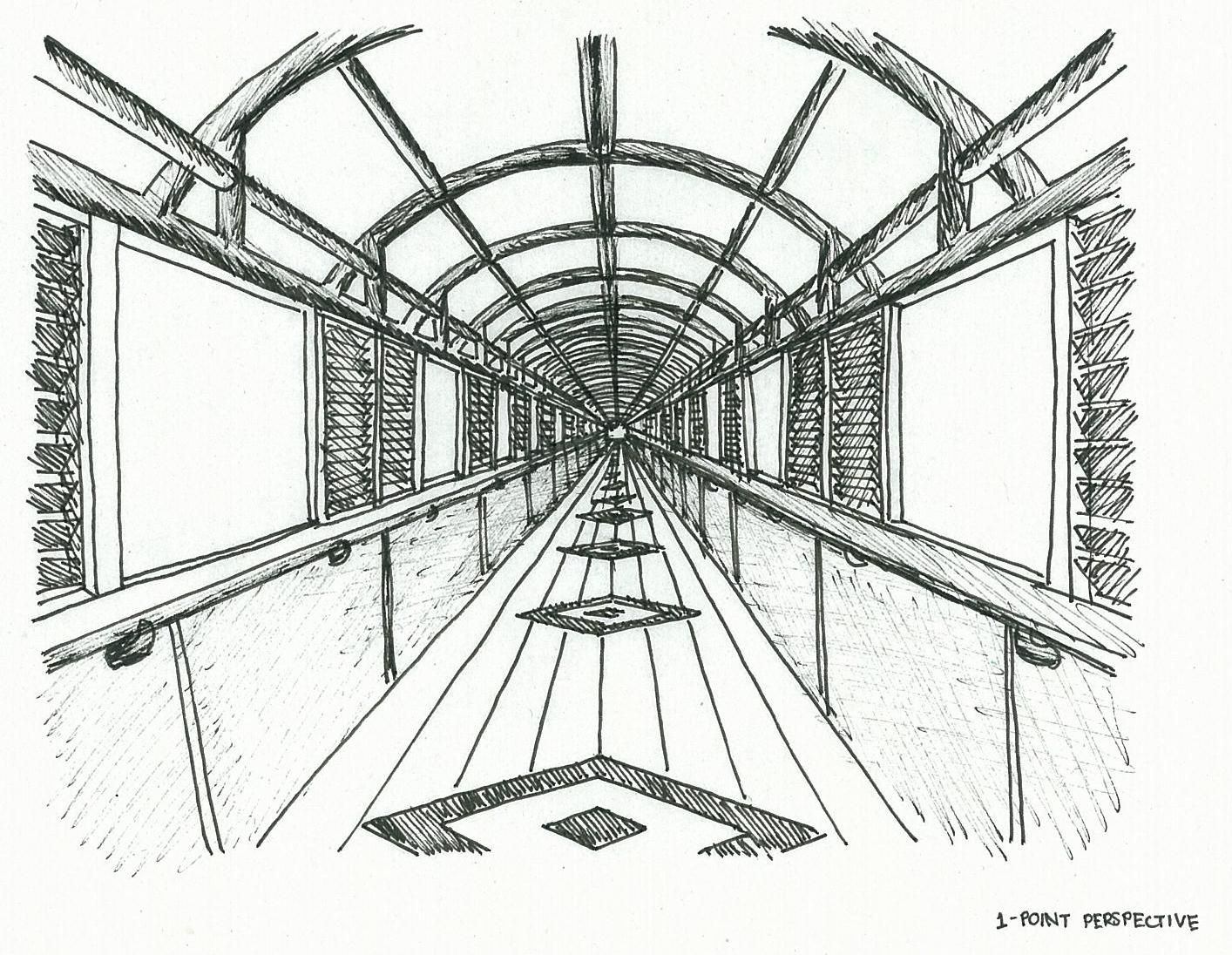 one point perspective drawings  Google Search  One Point