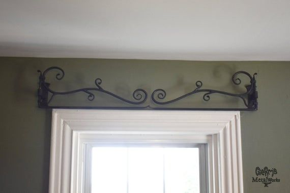 Curtain Rod Hand Forged Swing Arm Curtain Decorative Rod Etsy In