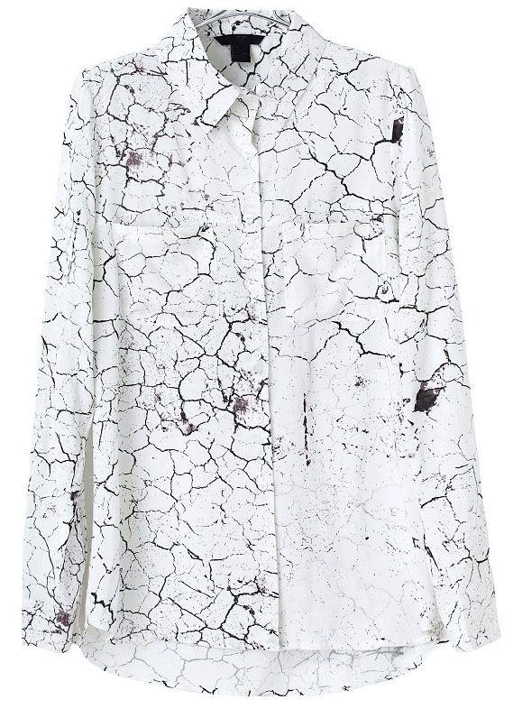 Blusa solapa Tierra Seca manga larga-Blanco EUR€21.04
