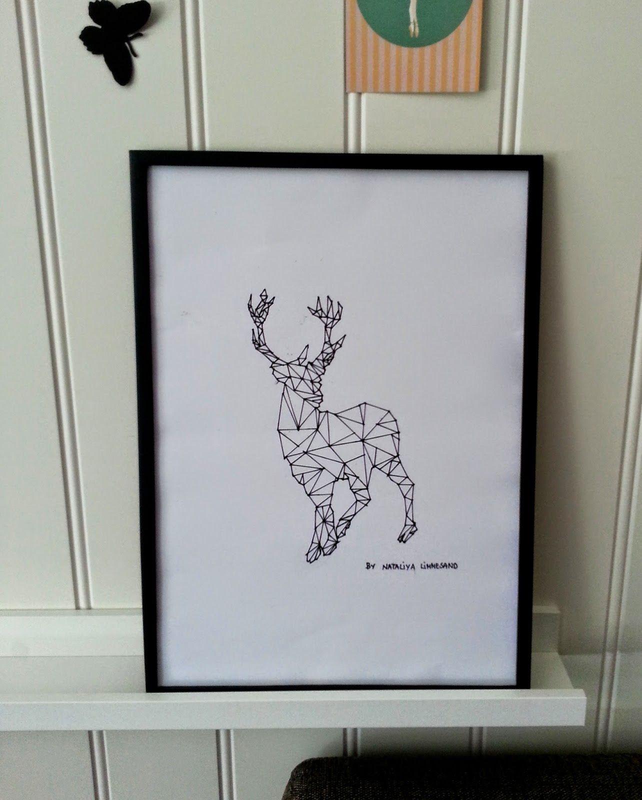 Geometrisk reinsdyr geometric deer diy easy diy crafts