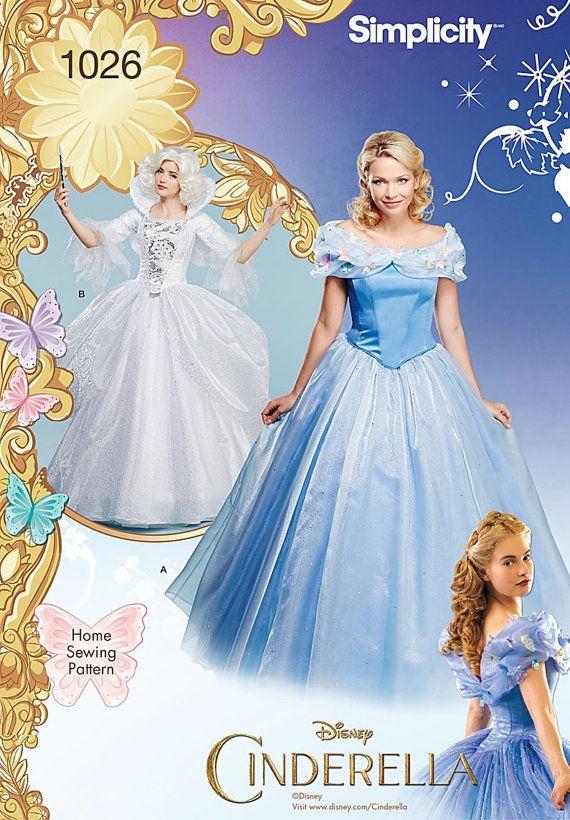 Simplicity Sewing Pattern 1026 Misses Cinderella Costume Etsy Cinderella Kleider Cinderella Kostum Kostumvorschlage
