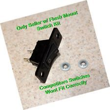 aftermarket replacement jenn air cooktop / stove fan switch - 2 wires black