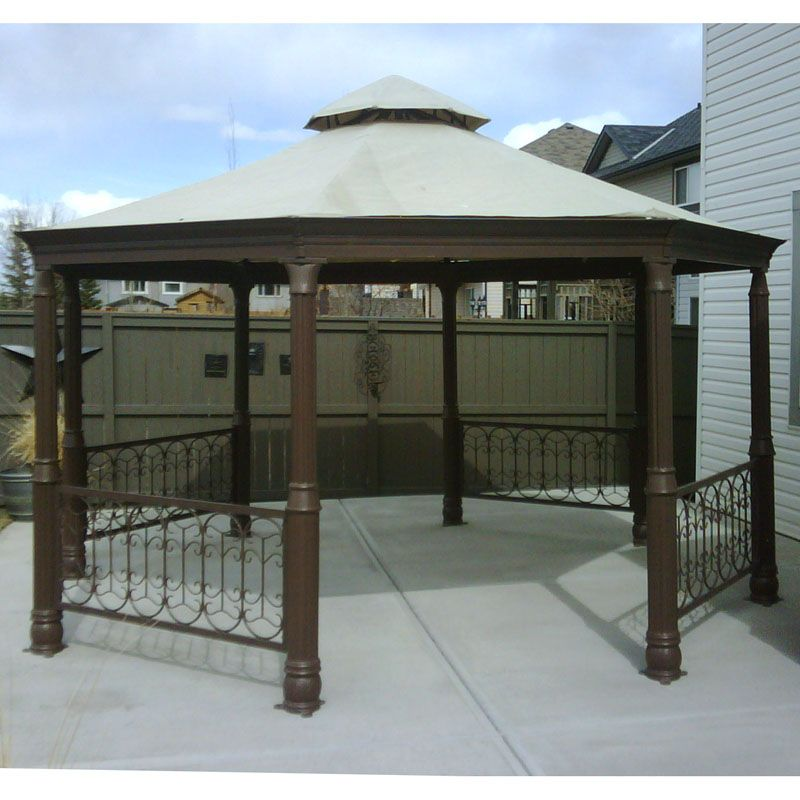 Patio Canopy Costco - It doesnu0027t make a difference what time it happens to be with the aid of patio styles that are innova & metal gazebos | Costco Octagon Gazebo Canopy Replacement Garden ...