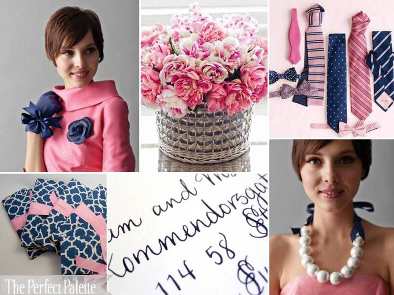 {Color Crush}: Navy Blue, Shades of Pink + White