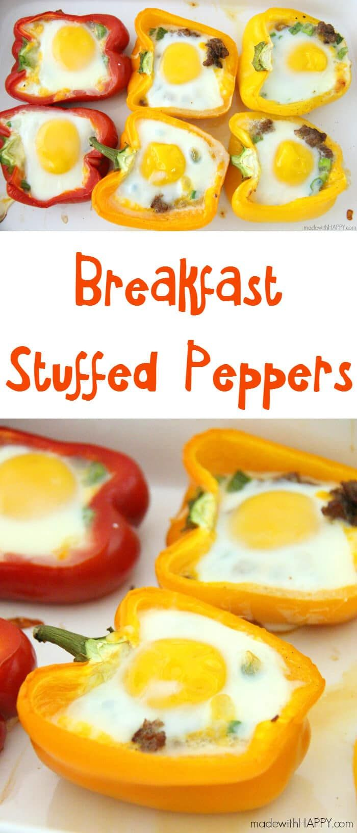 Breakfast Stuffed Peppers - Breakfast Recipes - Made with HAPPY
