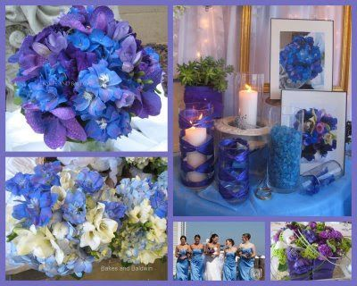 Elegant Cobalt Blue Kauai Island Wedding Purple Wedding Cakes Cake Purple Wedding