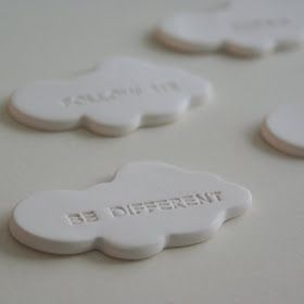 I think everyone should own a 'Think aloud cloud' - brooch. To make a statement or just because they are cute as hell. There are only 5 in t...