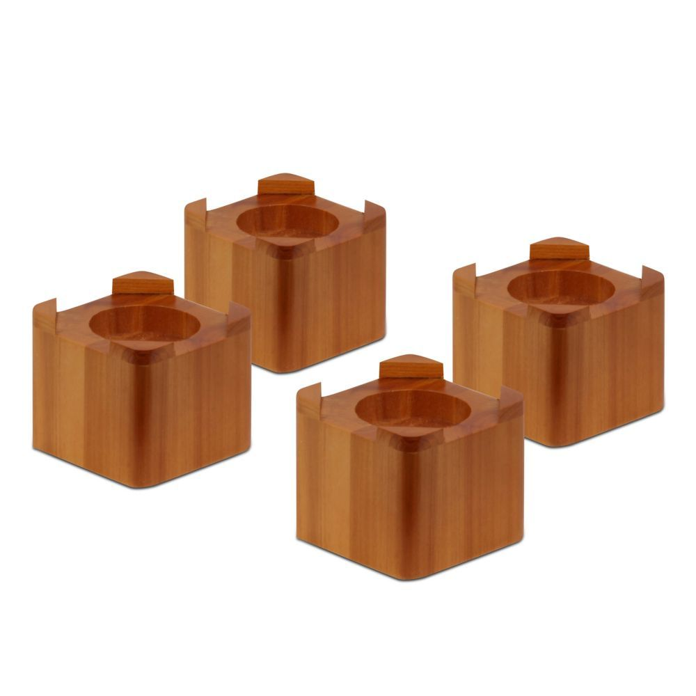 Wood Bed Lifts In Maple 4 Pack Wood Bed Risers Bed Lifts Bed