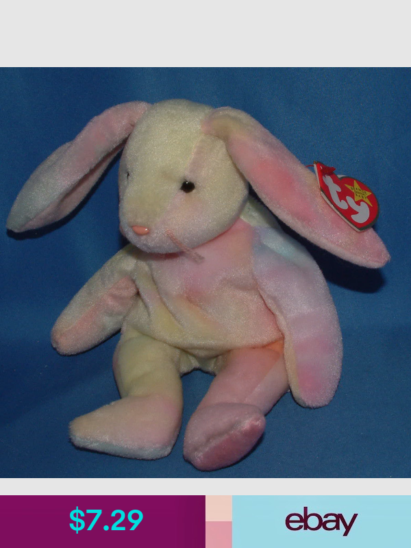 Ty Beanie Baby Hippie Bunny 1998 MWMT Easter colors will vary