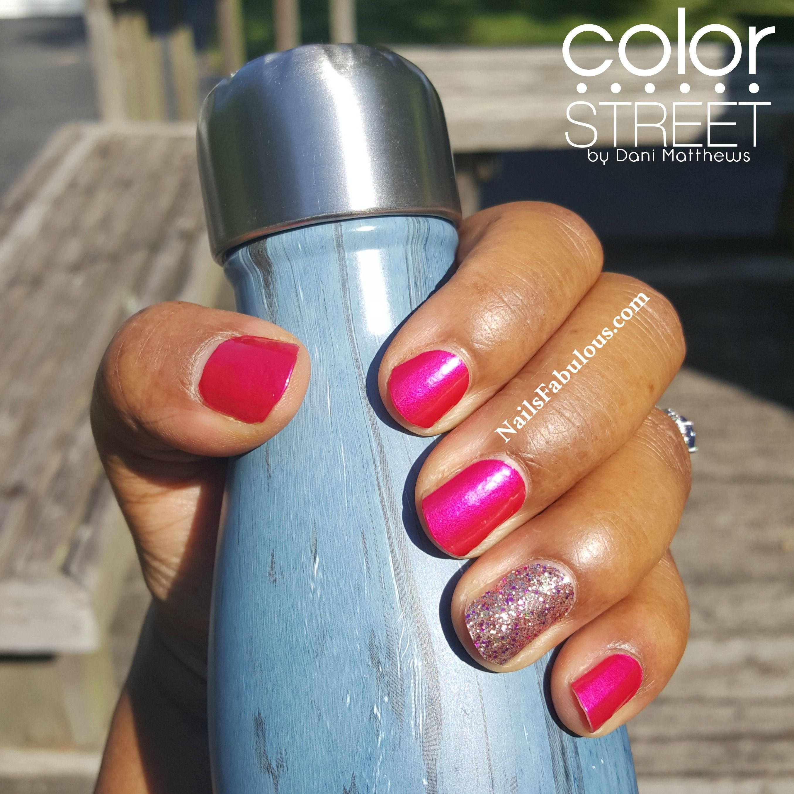 Color Street Miami Beach With Tokyo Lights Accent Nail Color