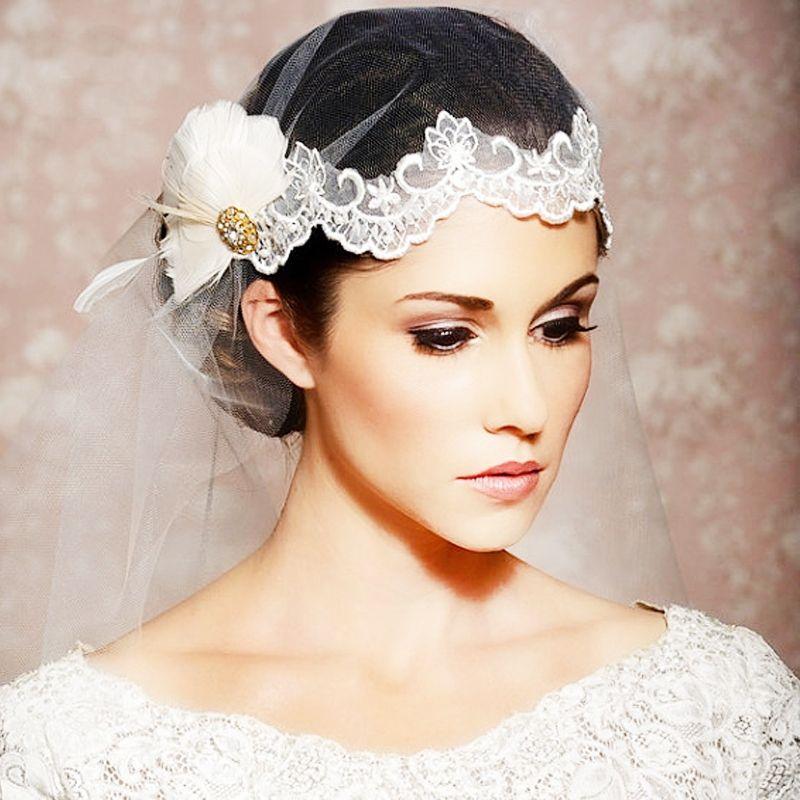 Aliexpress.com : Buy New 2013 Rhinestone Feather Lace Bridal Tiara ...