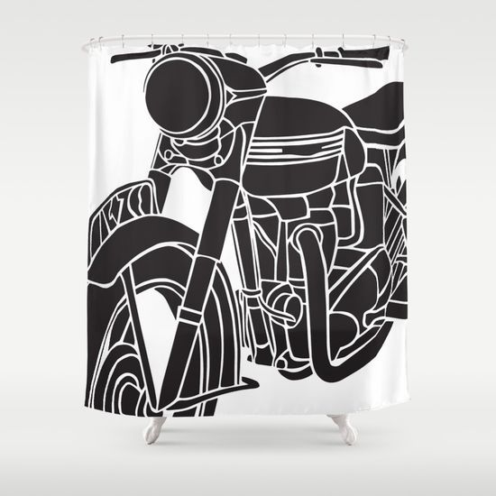 Motorcycle Shower Curtain Curtains Shower Curtain Shower