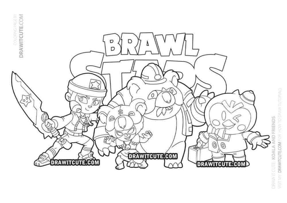 Koala Nita And Friends Coloring Page Brawl Stars Draw It Cute Brawlstars Coloringpages Star Coloring Pages Coloring Pages Star Art