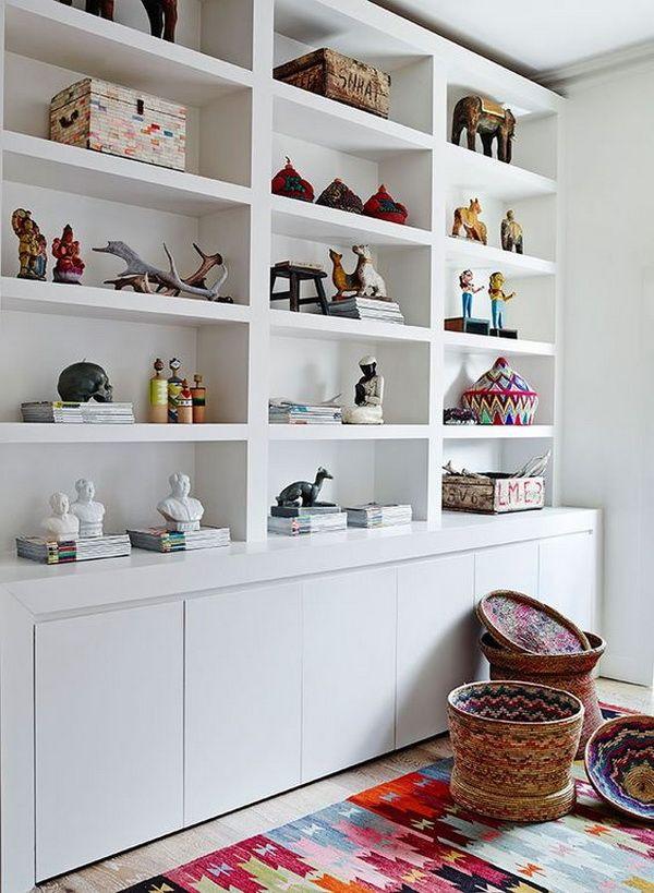 Estanterías De Obra Para Salones Muebles De Obra Decoración Biblioteca En Casa Estanterías Empotradas Ideas De Biblioteca