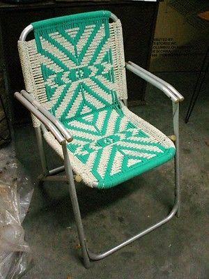 Vintage Macrame Followitfindit Lawn Chairs Retro Chair