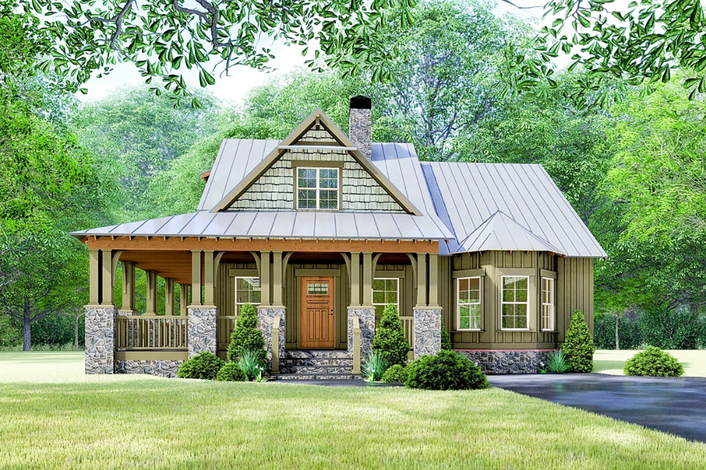 Plan 70630mk Rustic Cottage House Plan With Wraparound Porch In 2021 Architectural Design House Plans Rustic House Plans Craftsman House Plans