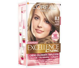excellence crme 81 blond clair cendr i just had my roots matched to a mix - Coloration Excellence