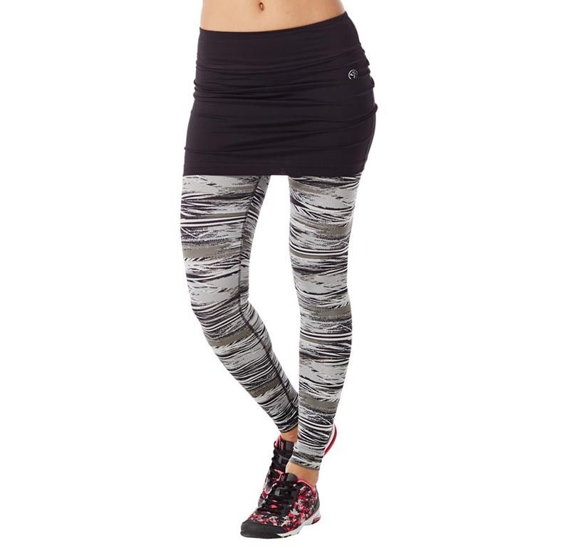 e989e38ec7a6 The Treaded Skirt Zumba Legging is the best of both worlds. With  print-tastic