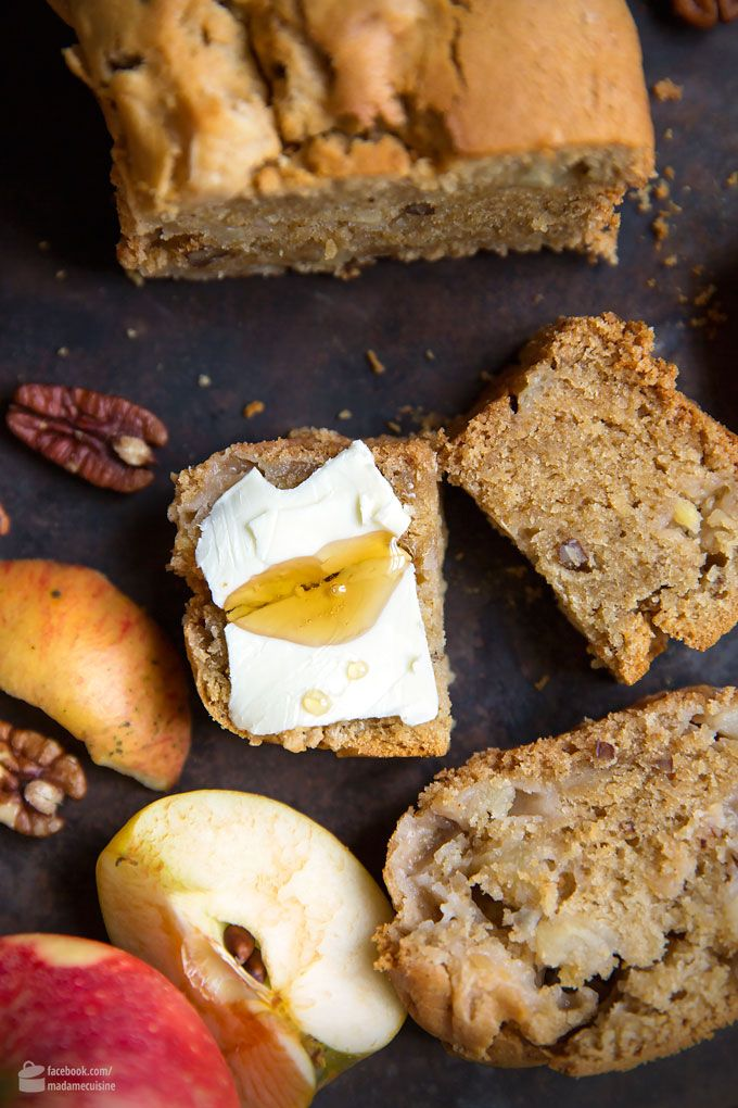 Für den Herbst: Süßes Apfel-Pekannuss-Brot #süßesbacken
