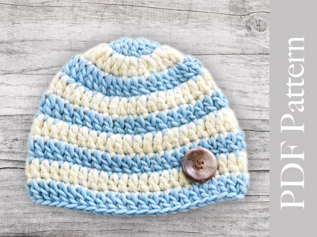 Crocheted Baby Boy Hat. Another \'2\' hats I made. Love! | GORROS ...