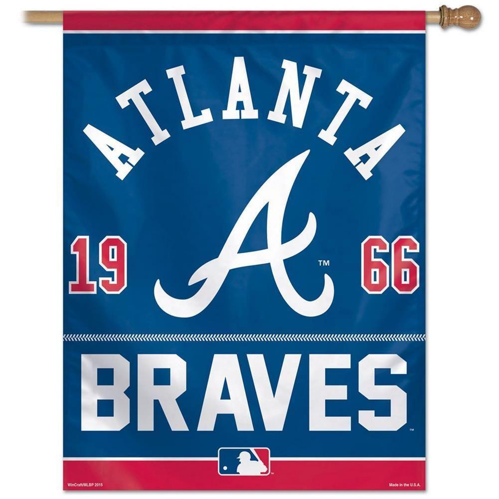 Atlanta Braves Vertical Outdoor House Flag Atlanta Braves Atlanta Braves Logo House Flags