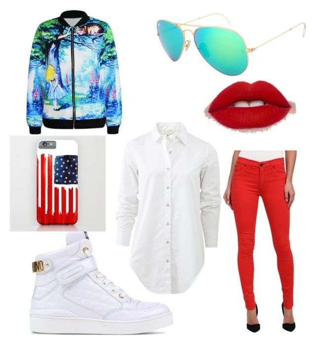 Fourth of July by india-k-love on Polyvore featuring polyvore, fashion, style, rag & bone, Hudson, Moschino and clothing