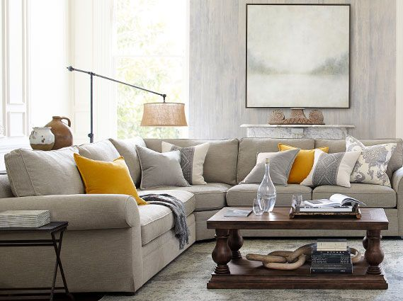 Charming Pearce Sectional Classic Living Room