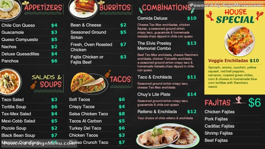 This Template Is Best Showcased On A Digital Signage Menu Board And