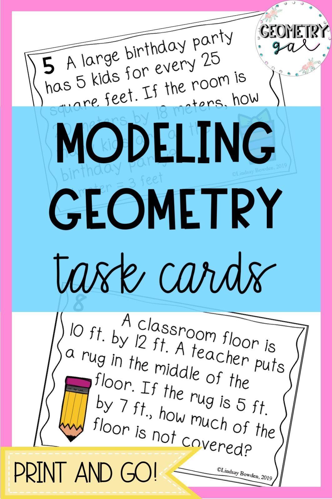 Modeling Geometry Task Cards