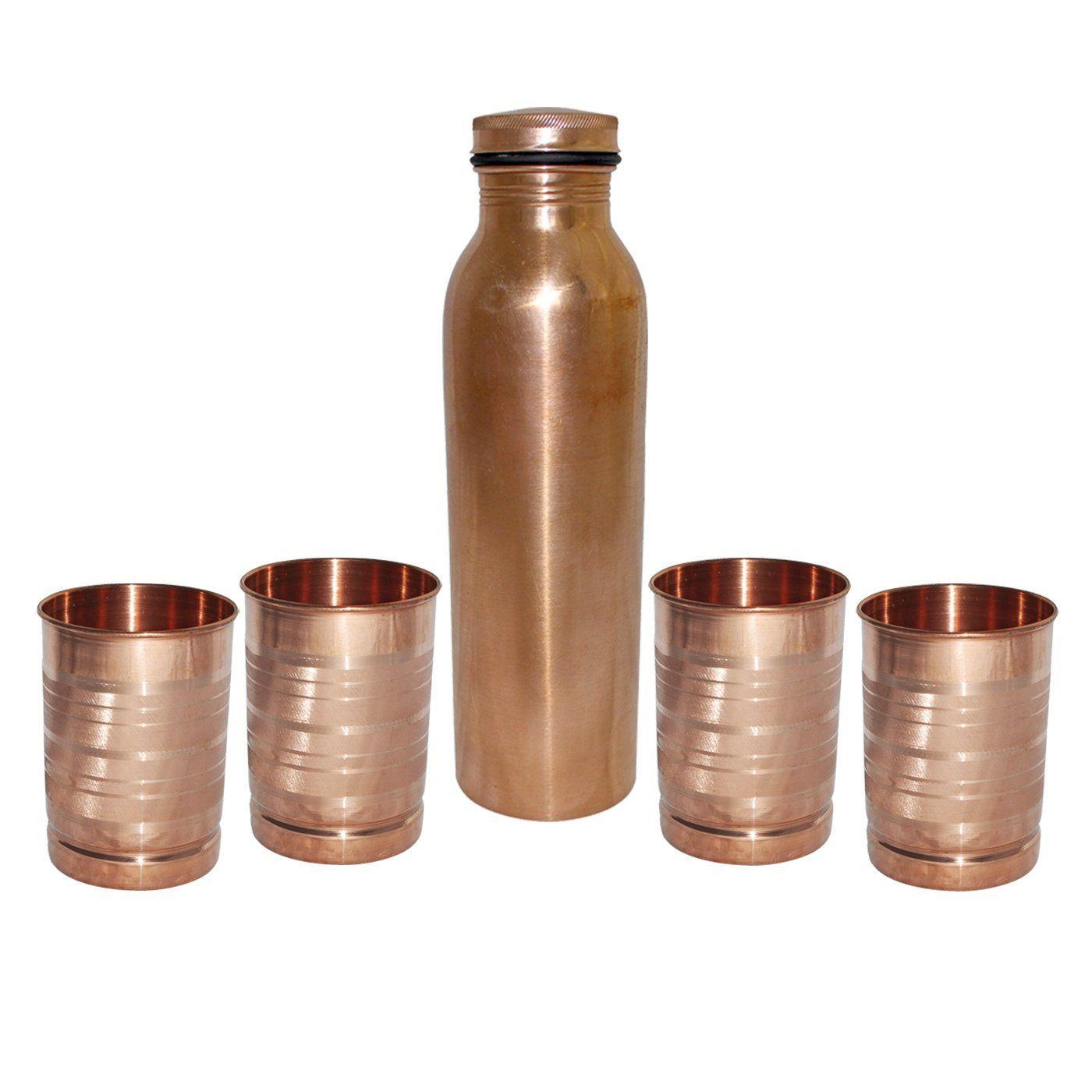 DakshCraft ® Handmade Copper Thermos Bottle