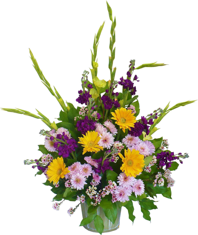 purple and yellow flower arrangements | Sympathy Flowers ...