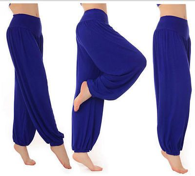 Women Soft Comfy YOGA Gym Exercise Fitness Athletic Pants Running Sport Trousers