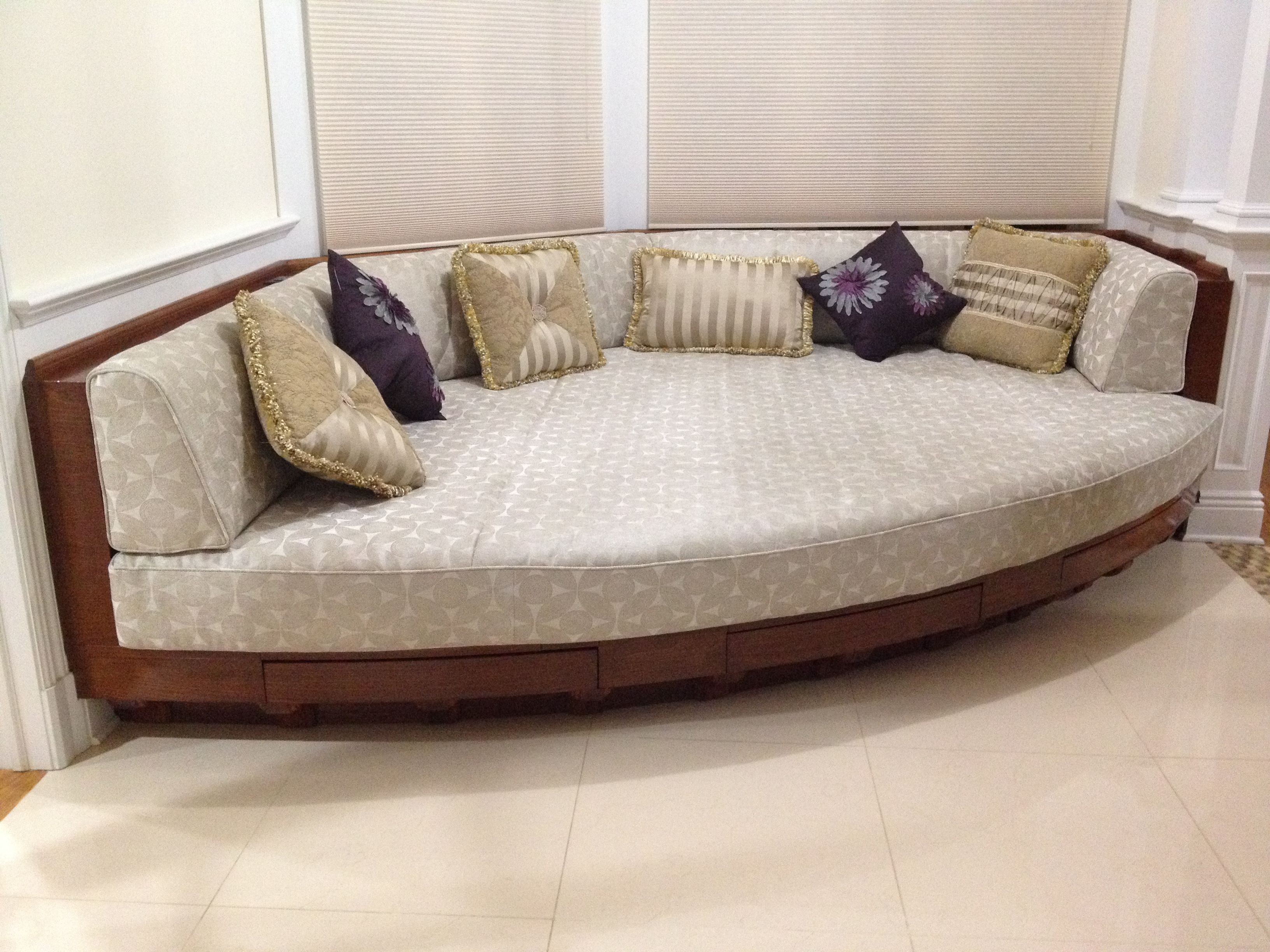 "Custom made ""deewan"" for lounging and family gatherings. Solid mahogany construction"
