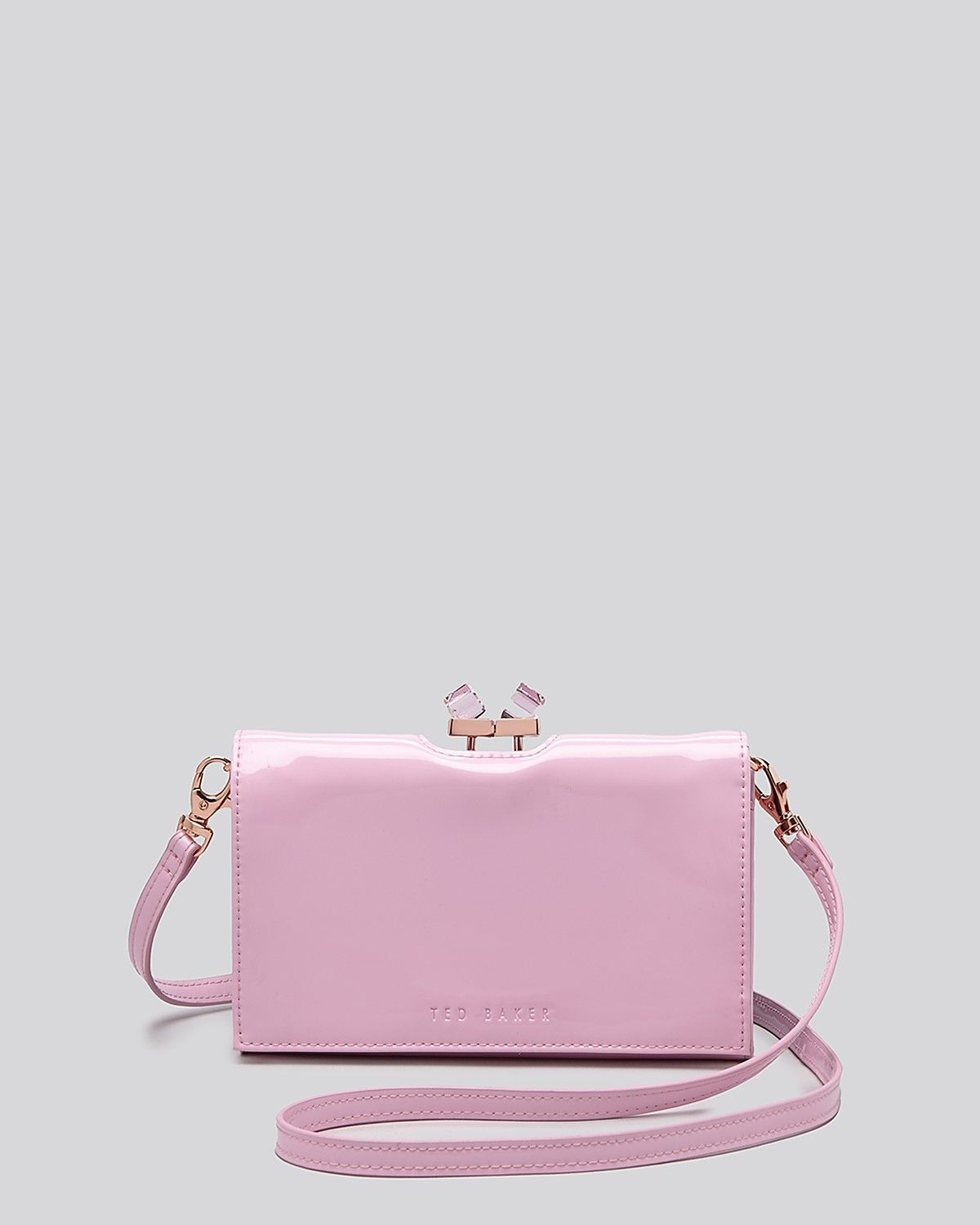 Ted Baker Crossbody Patent Square Crystal Bloomingdale S Clutch Purse Purses
