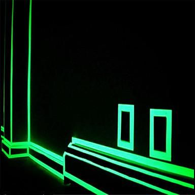 Green Orange Fluorescence Sticker Night Luminous Tape Dark Home Decor Glow Tape Wall Stickers