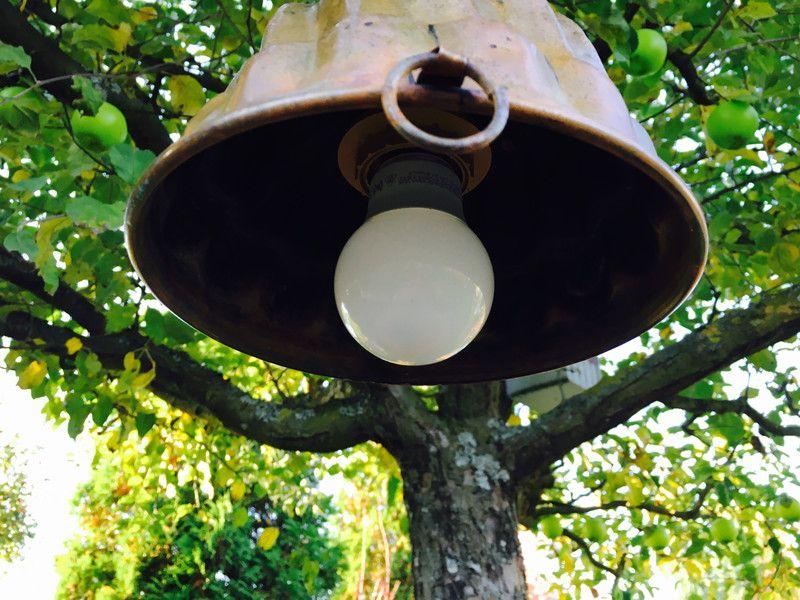 Vintage Deckenlampen - Vintage Lampe Gugelhupf kupfer - ein Designerstück von schaebigundchic bei DaWanda