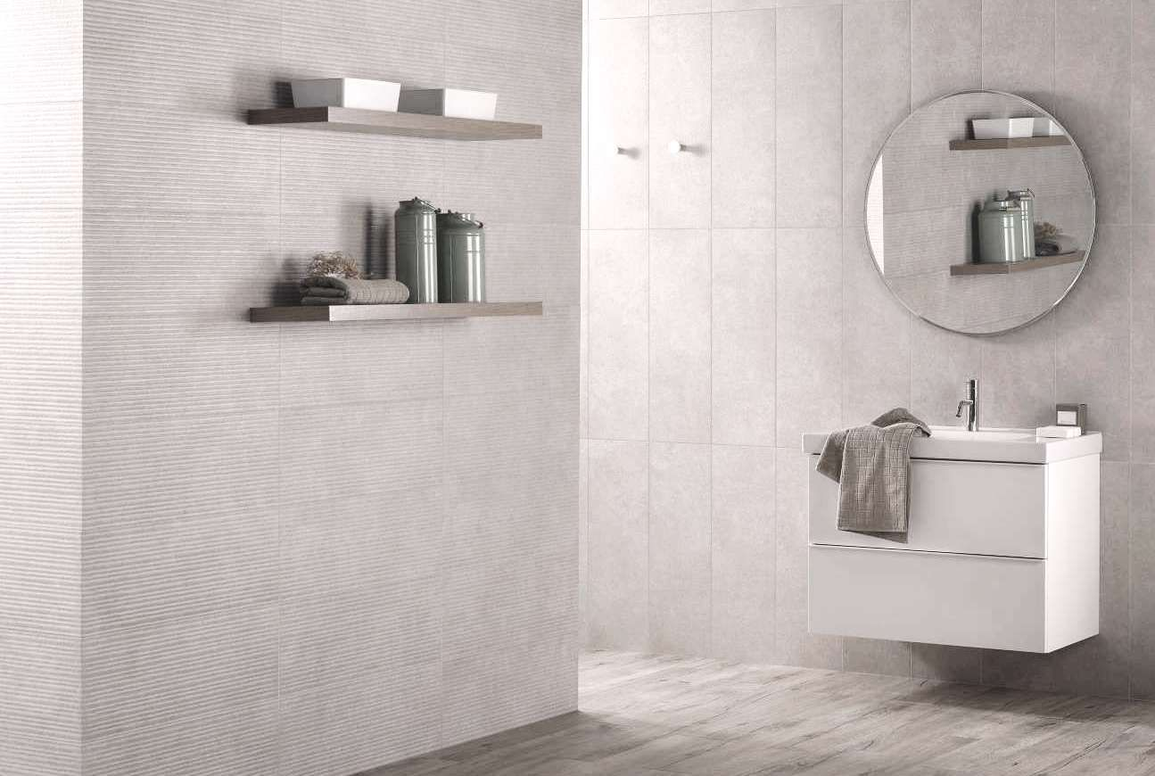 Concrete inspired tile design. New range of Spanish bathroom wall ...