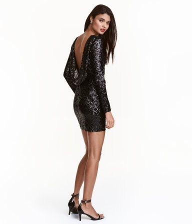 5642691da02e Sequined Dress | Black | Ladies | H&M US | Cocktail dresses for ...