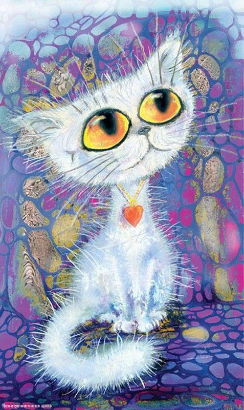 Сердце, рисунки прикольные котята