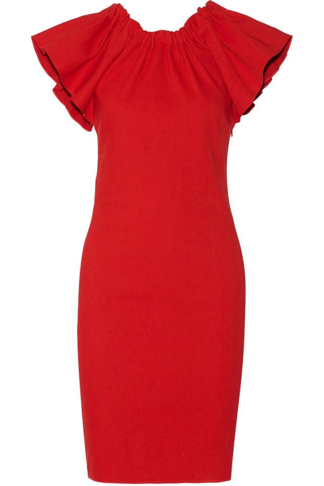 10 red dresses perfect to fete the holiday season.