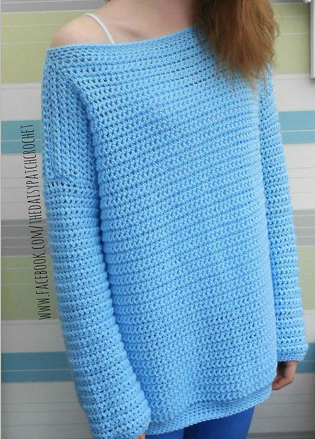 Daisy Off The Shoulder Sweater Pattern By Gillian Moore Crochet