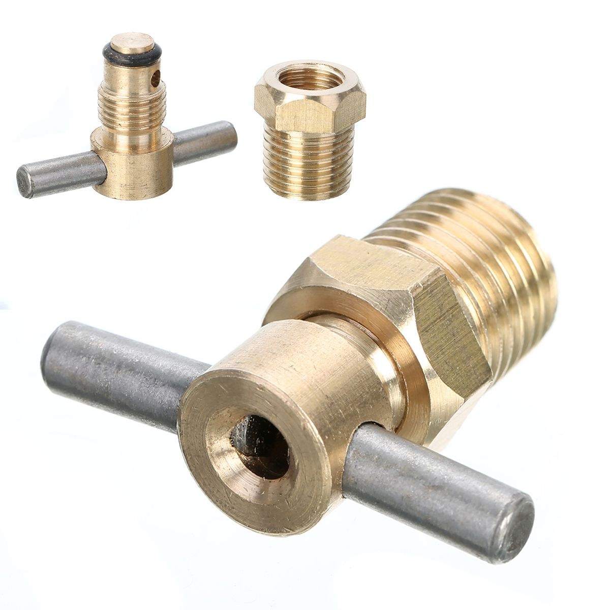 1pc 1/4 Inch NPT Brass Drain Valve For Air Compressor Tank