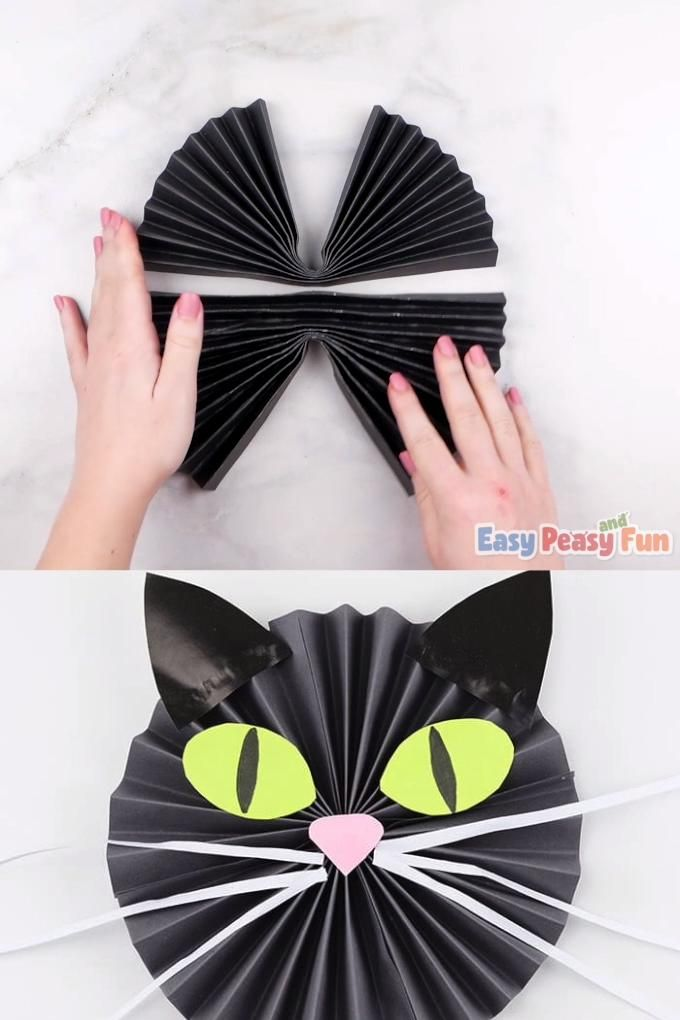 Photo of Black Cat Paper Craft – simple paper crafts for kids