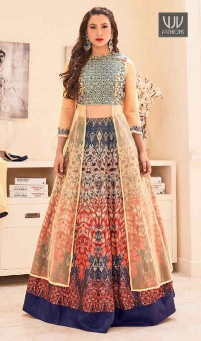 278ab5b47b Gauhar Khan Multi Color Silk Designer Choli Lehenga Be an angel and create  and establish a smashing effect on everybody by carrying this Gauhar Khan  multi ...