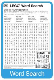 Free Printable #LEGO Coloring Page, Word Search & Connect the Dots ...