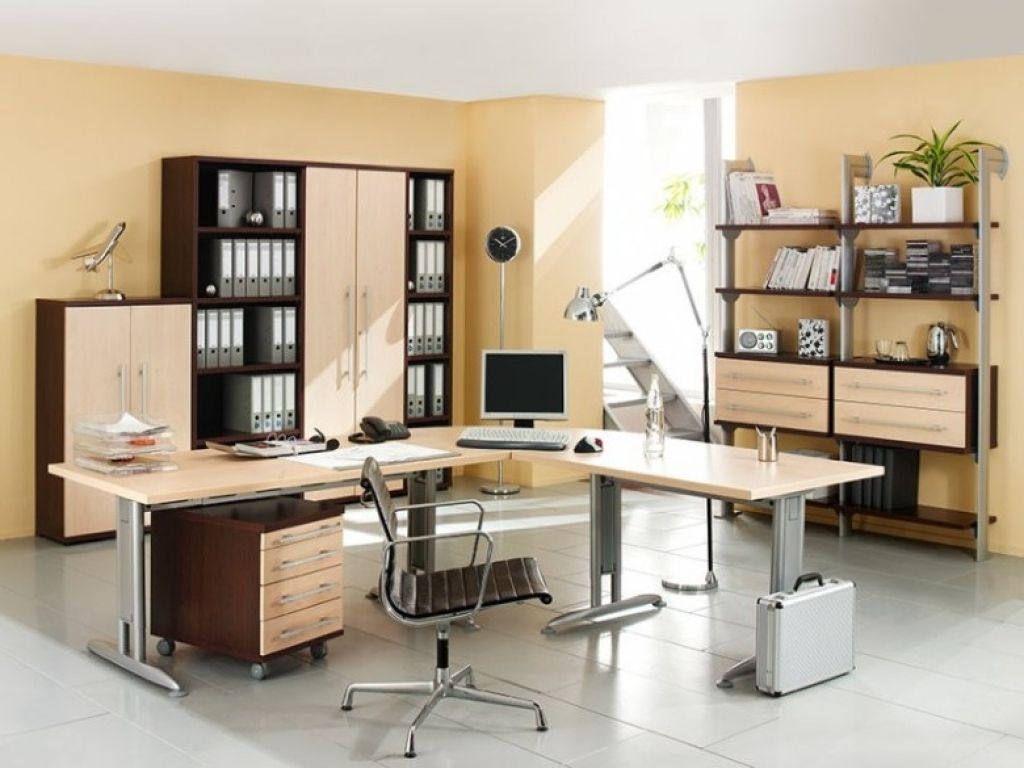 Cool Home Office Design Layout Office In A Cupboard Ideas Home Offices Furniture Office Tables Furni Desain Interior Kantor Desain Kantor Rumah Desain Kantor