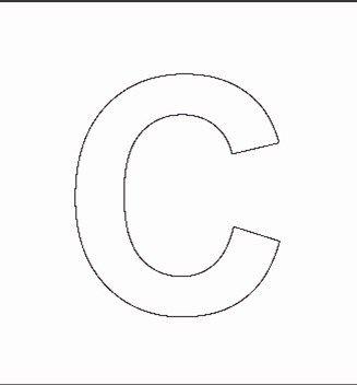 Capital C Stencil Crafts Alphabet Stencils Stencils Alphabet