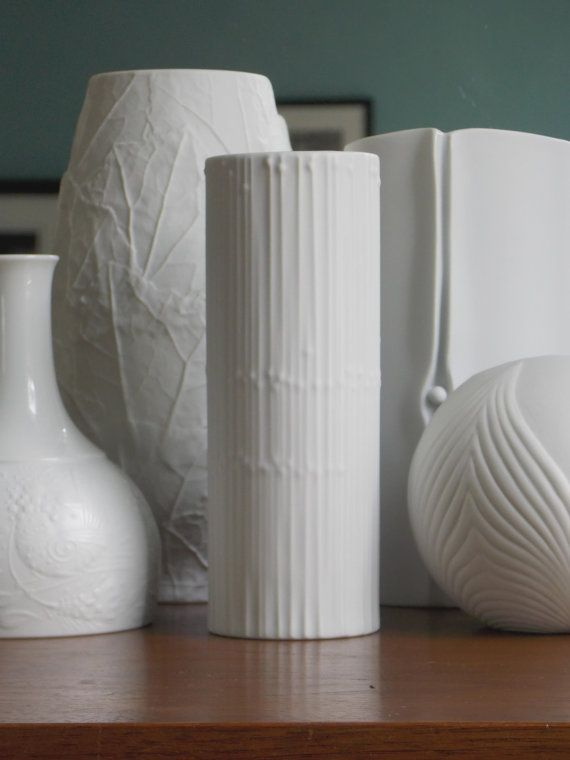 Tapio Wirkkala Vase For Rosenthal Germany Matte White Porcelain From Midcenturyfla On Etsy
