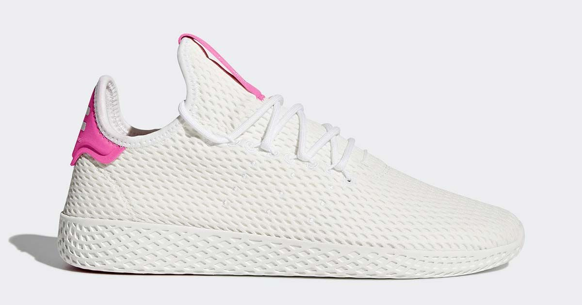Adidas Pharrell Williams Tennis Hu White Pink 60 Shipped Normally 110 Pink Adidas Sneakers Williams Tennis