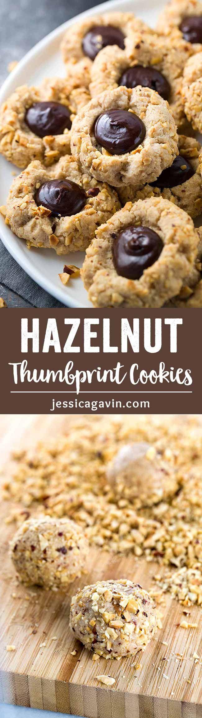 헤이즐넛 썸브프린트 쿠키